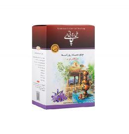 چای 350 گرمی سیاه داخلی با طعم زعفران