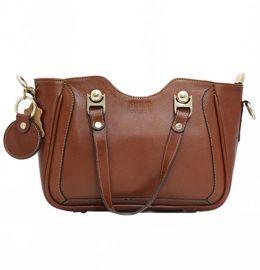 کیف زنانه دست کوتاه عسلی