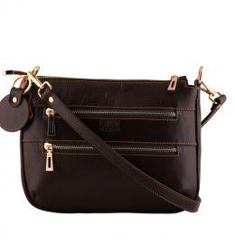 کیف دخترانه قهوه ای دوزیپ