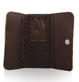 کیف پول زنانه قهوه ای